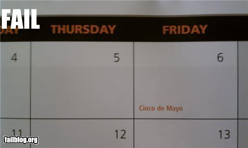Calendar fail. From cheezburger.com