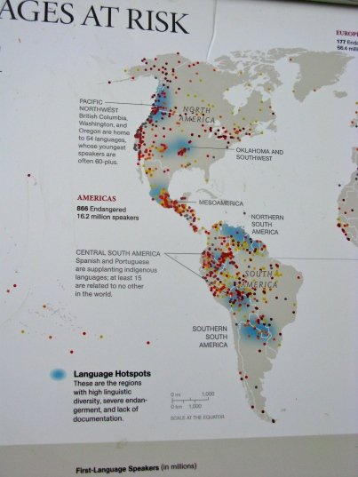 Languages at risk in North America